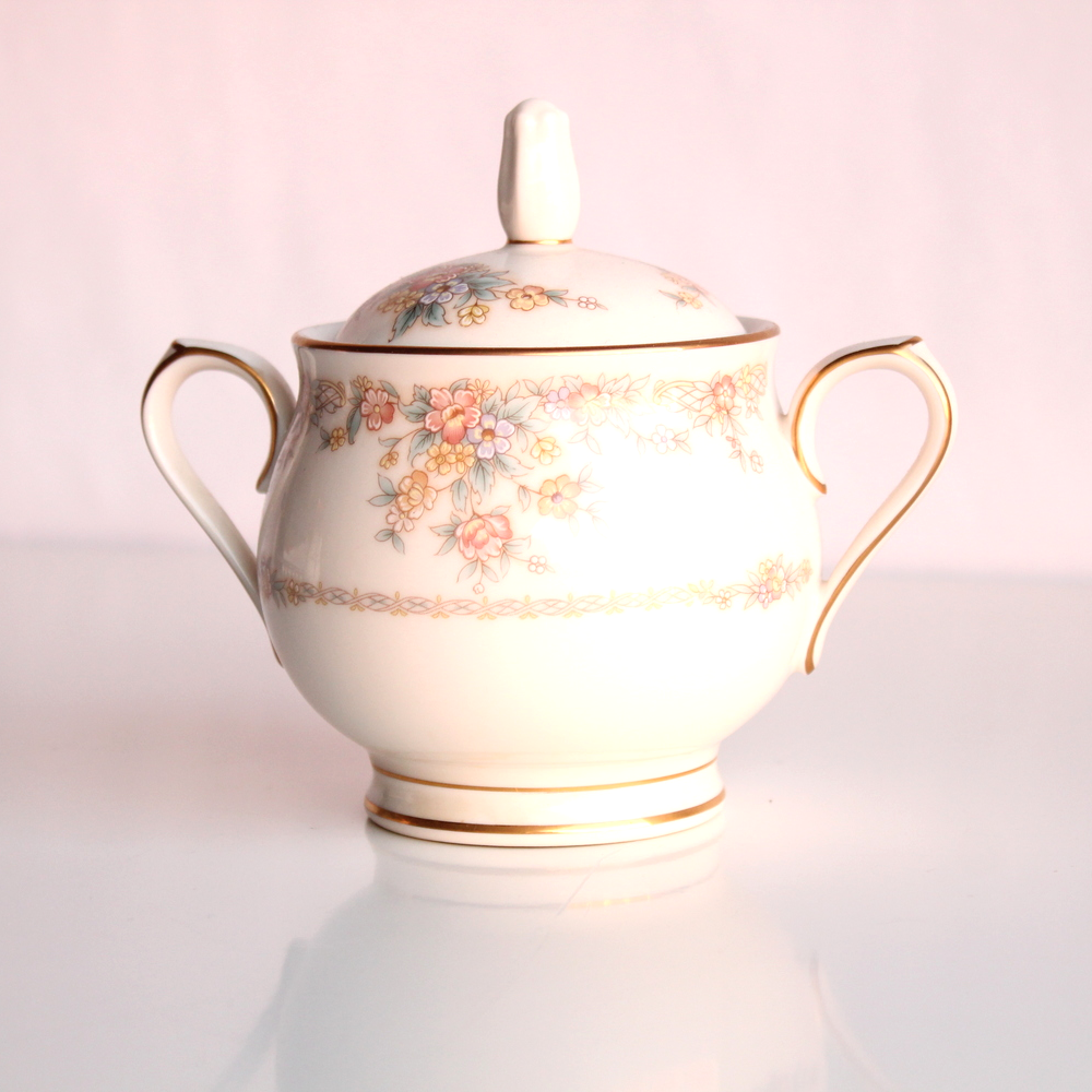 Soft Floral Collection Sugar Bowl