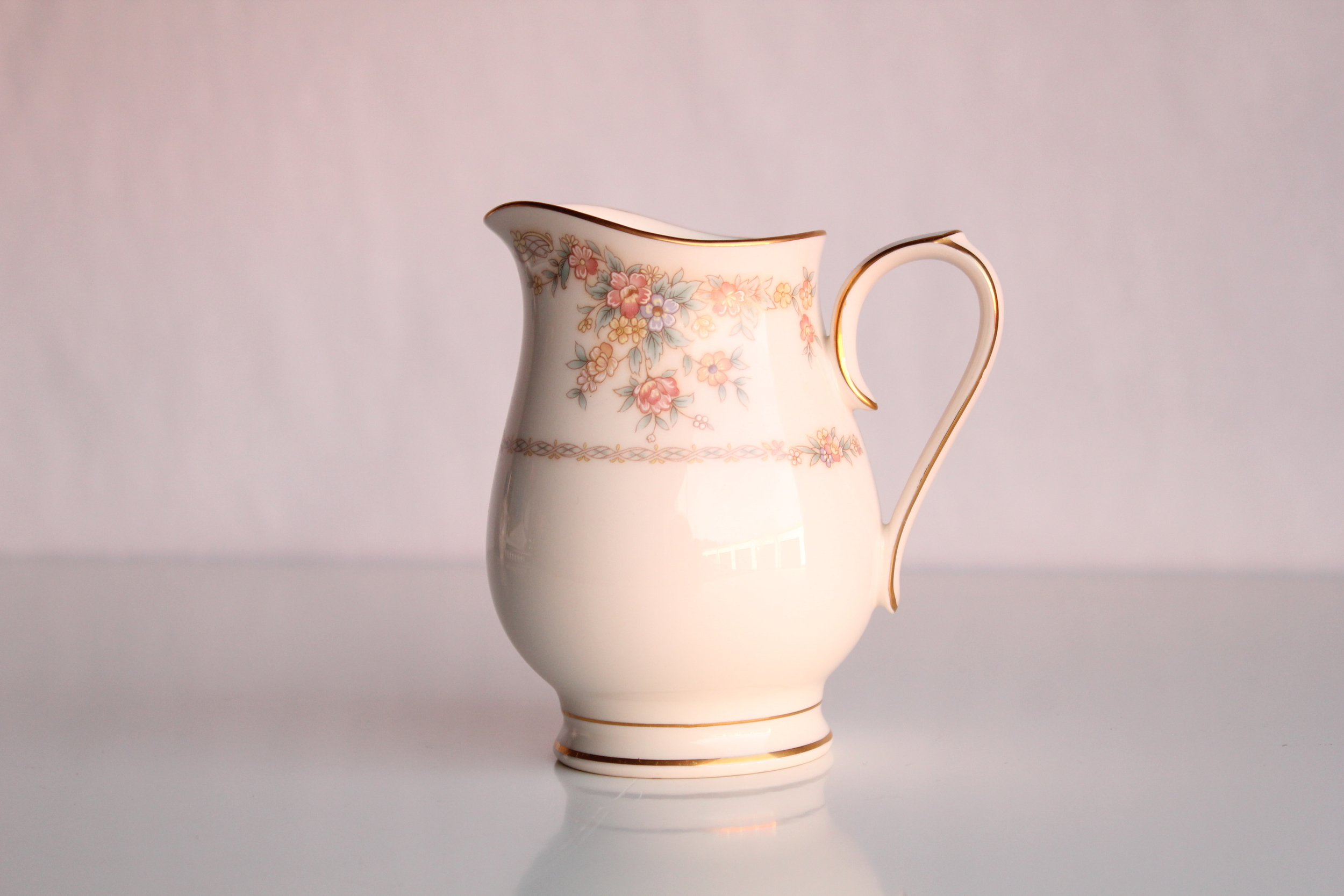 Soft Floral Collection Creamer