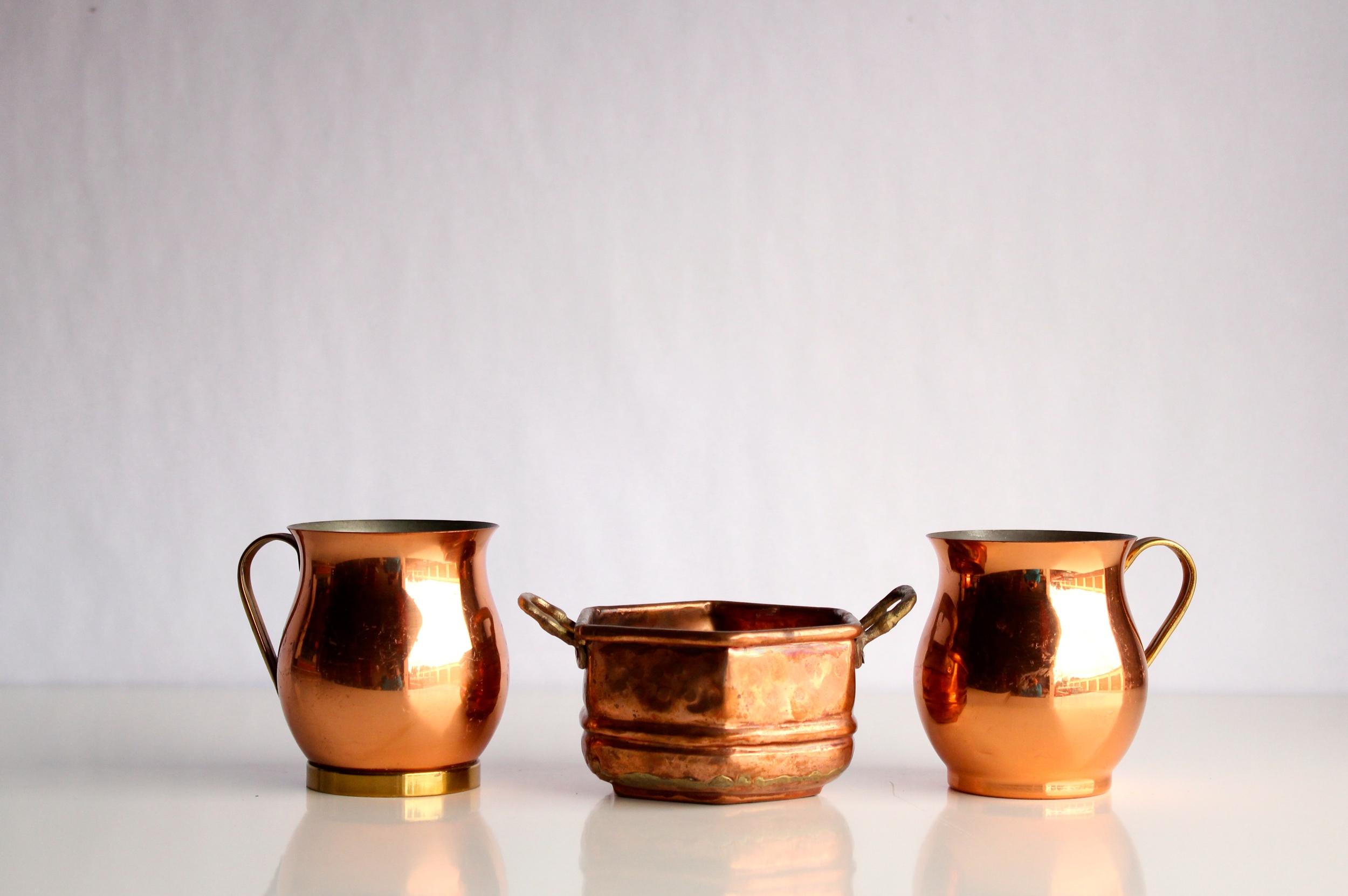 Small Copper Pots + Vases