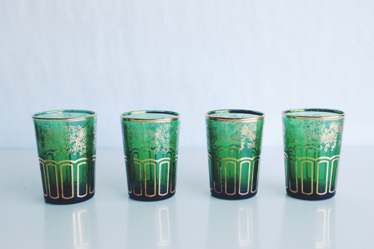 Green Glass Votives