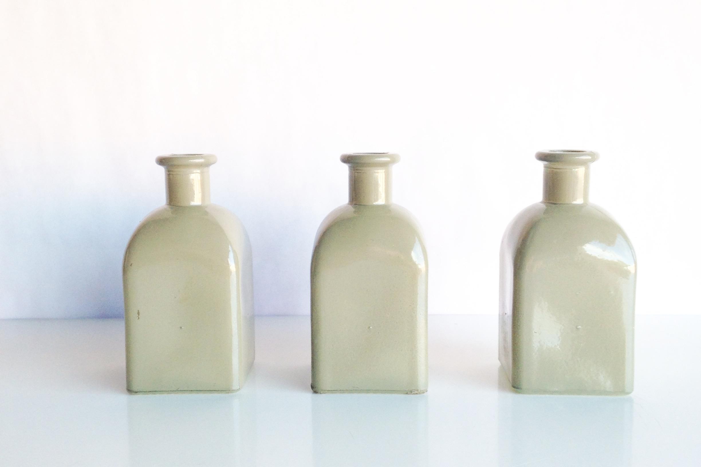 Gray Bottle Vases