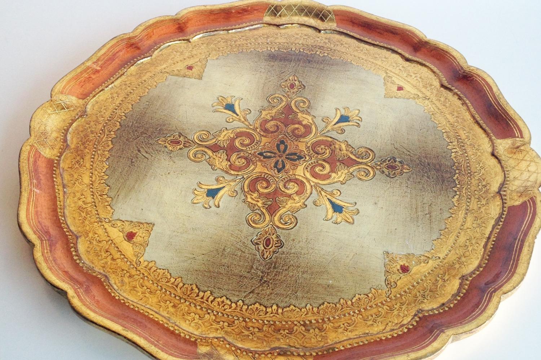 Gold Vintage Pattern Tray
