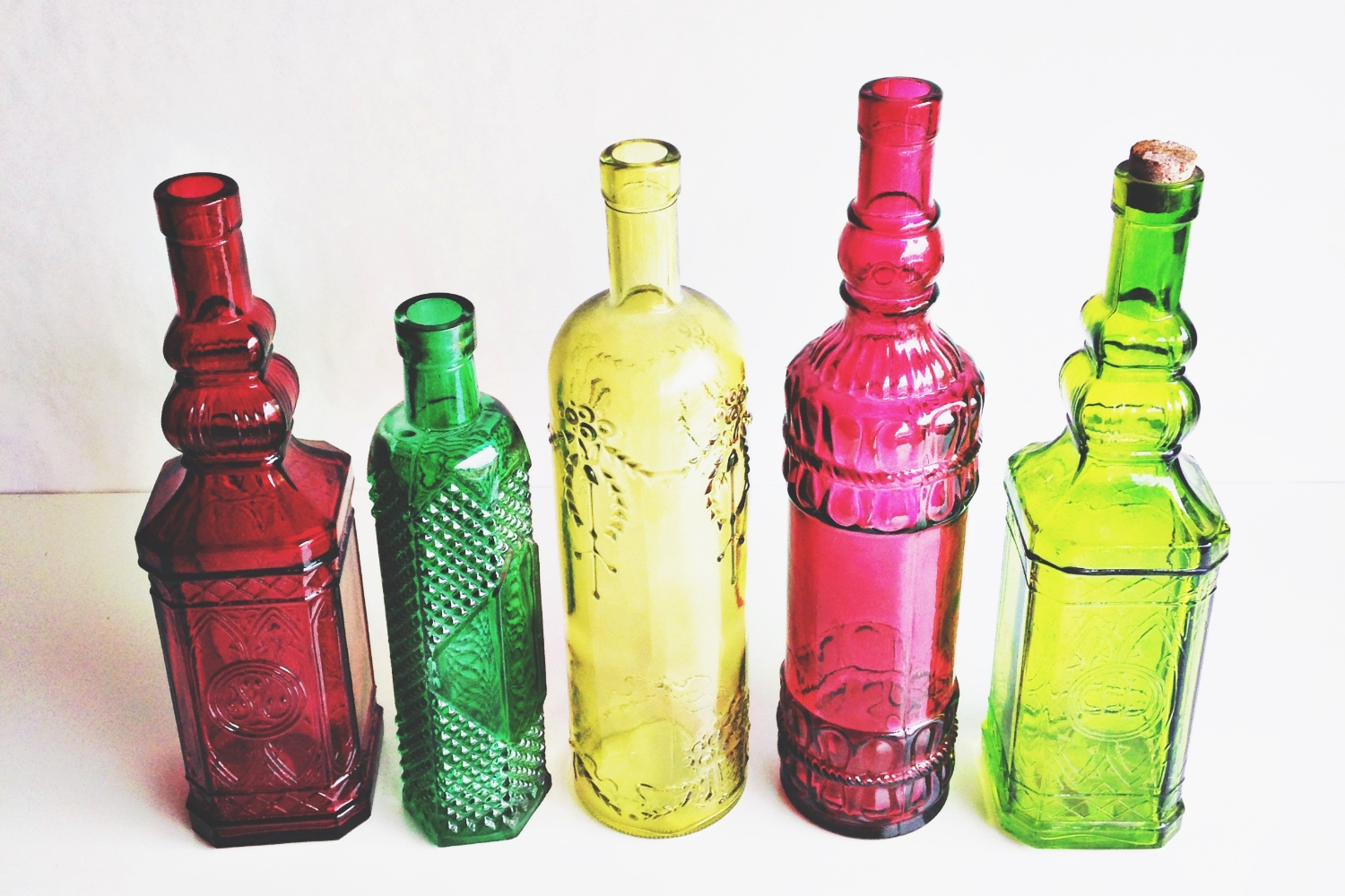 Colorful Glass Bottles