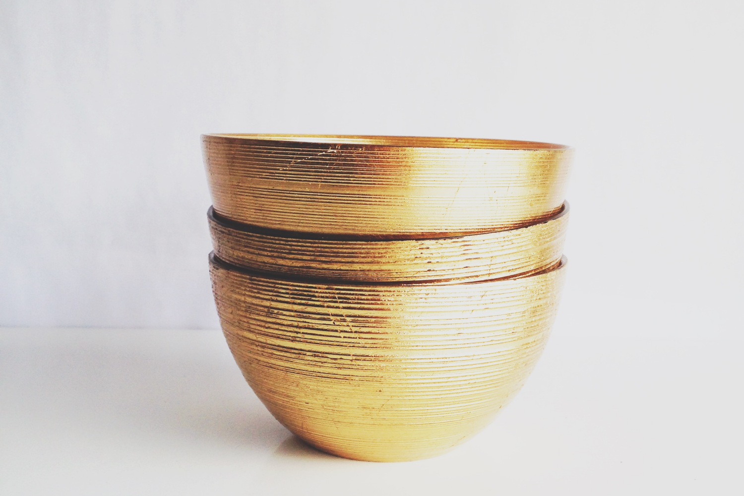 Small Gold Serving Bowls