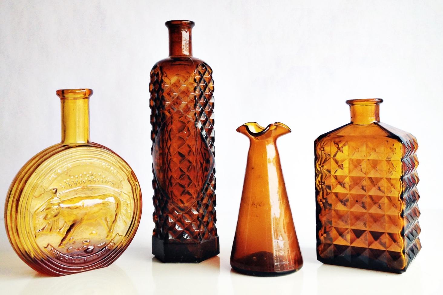 Dark Amber Glass Vessels