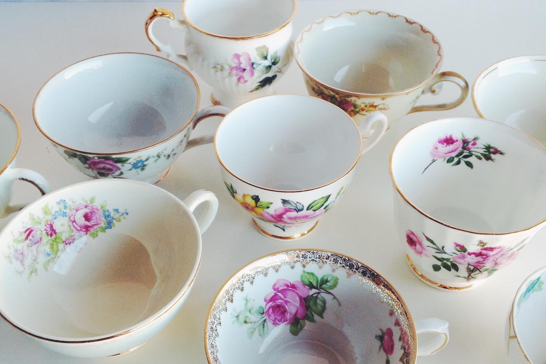 Golden Floral Teacup