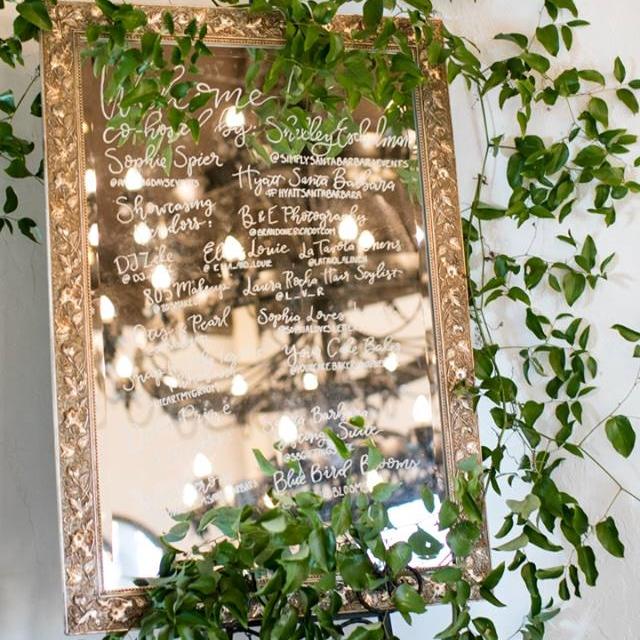 Rose Gold Large Mirror