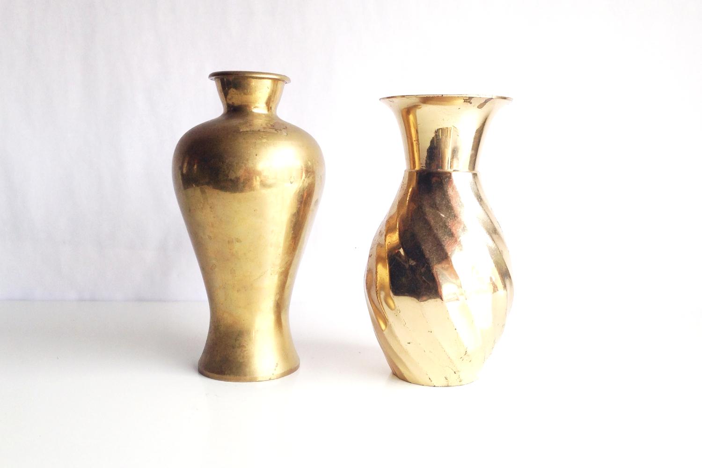 Large Brass Vases