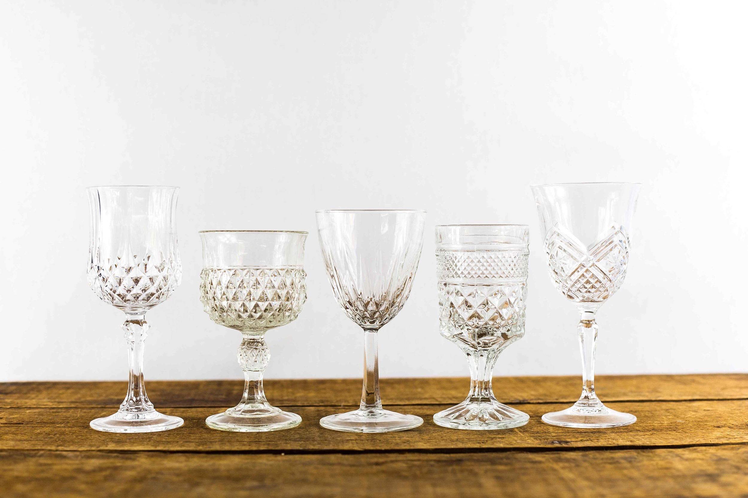Vintage Wine Goblets