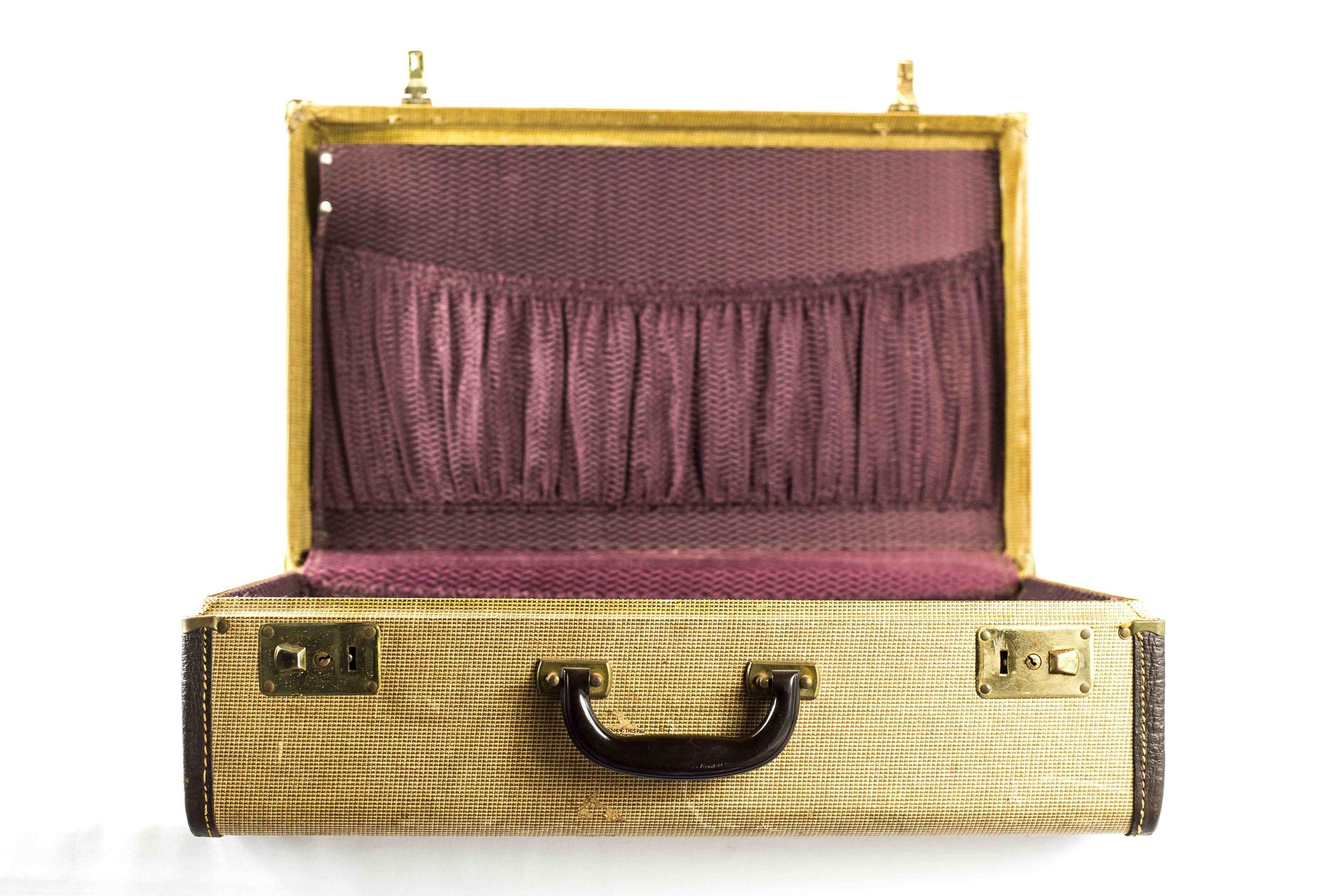 Medium Tan Suitcase