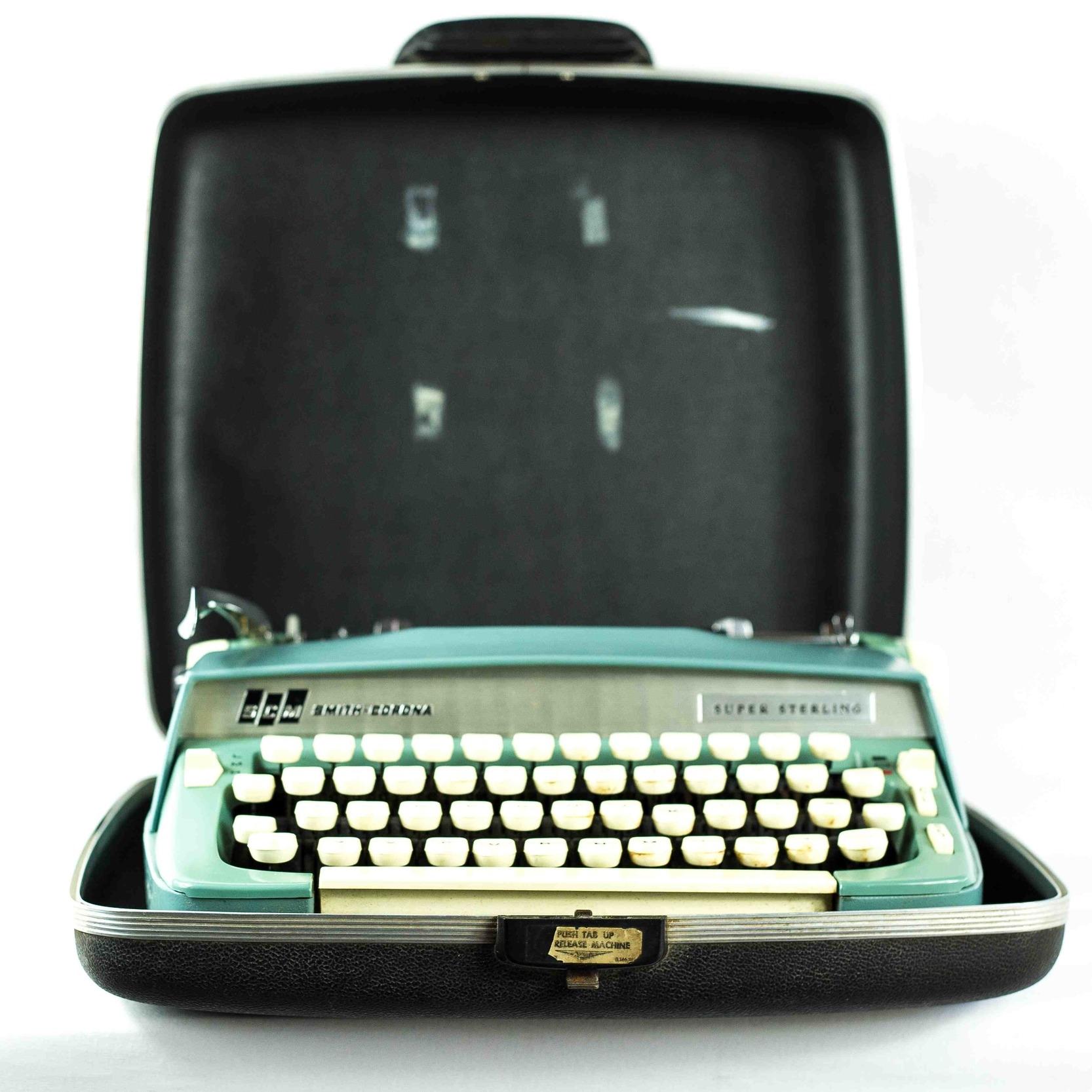 Vintage Light Green Typewriter
