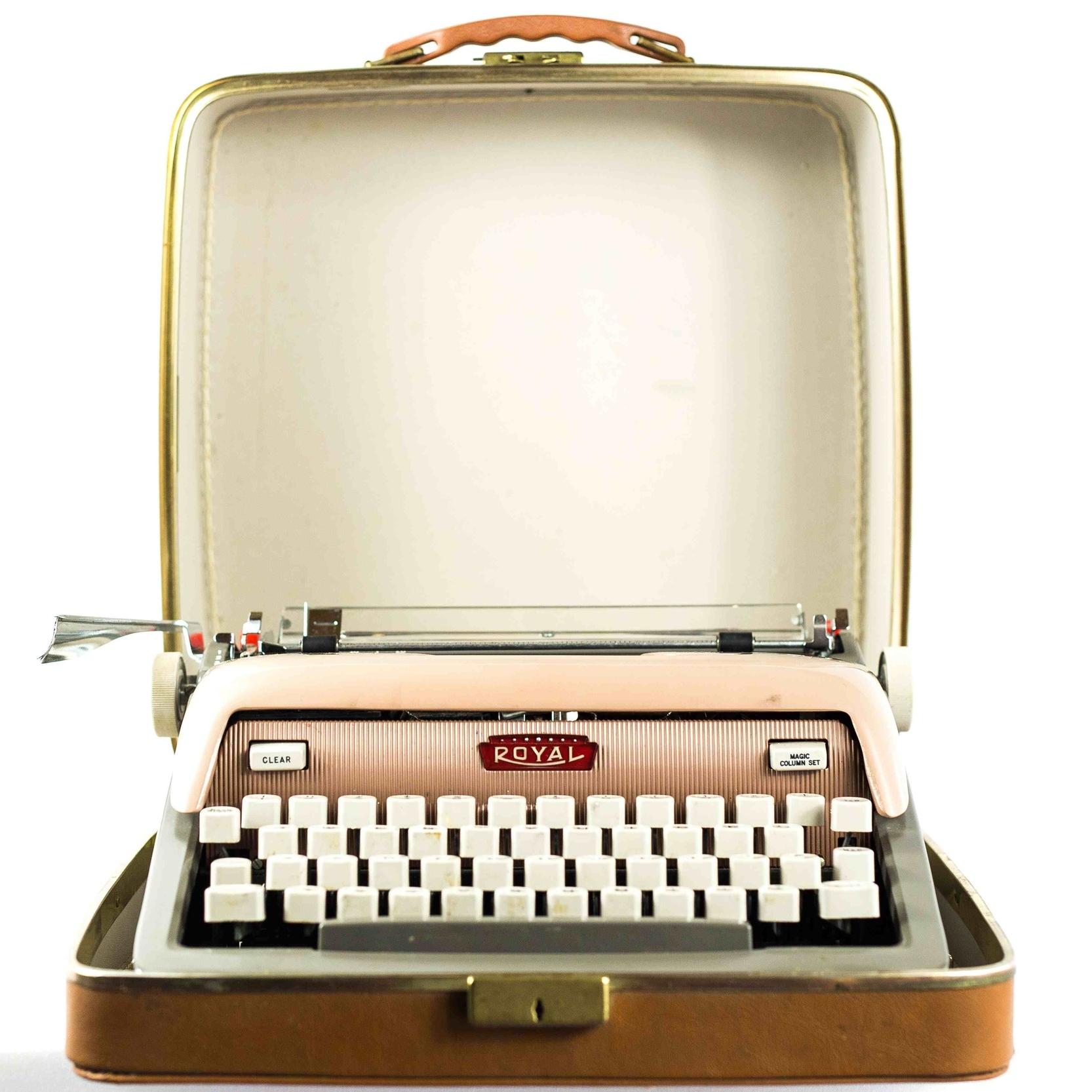 Light Tan Vintage Typewriter