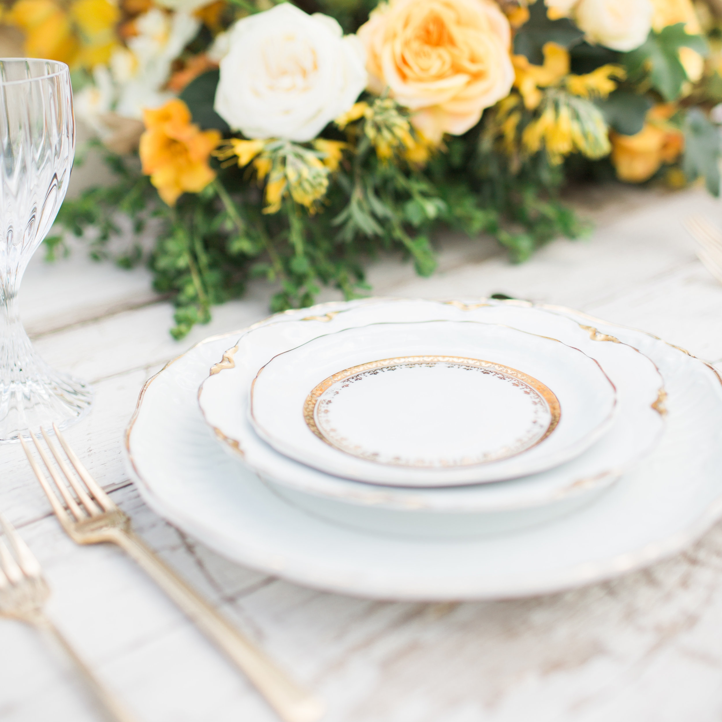 White + Gold Collection Dessert & Bread Plates