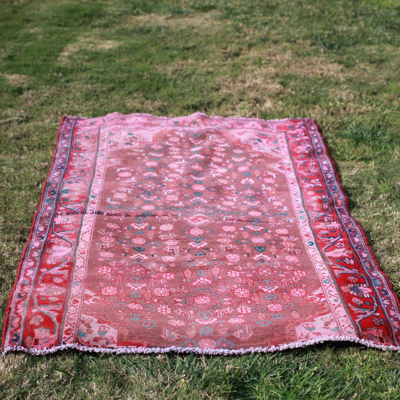 Deep Pink PersianArea Rug