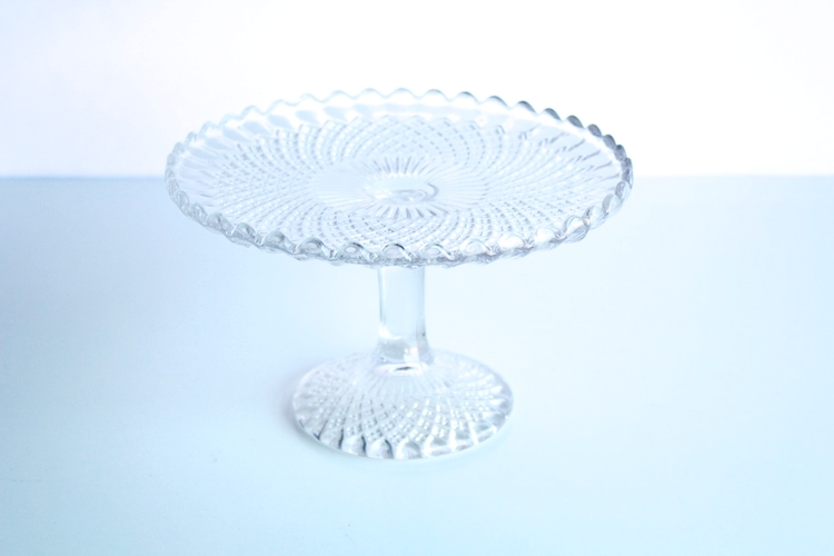 SmallCrystal Cut Cake Stands