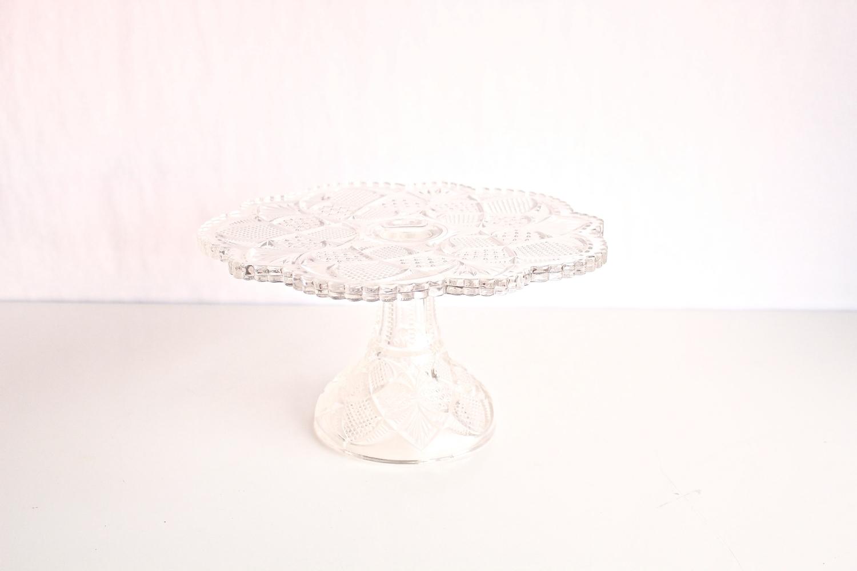 Medium & Large Cut Crystal Cake Stands
