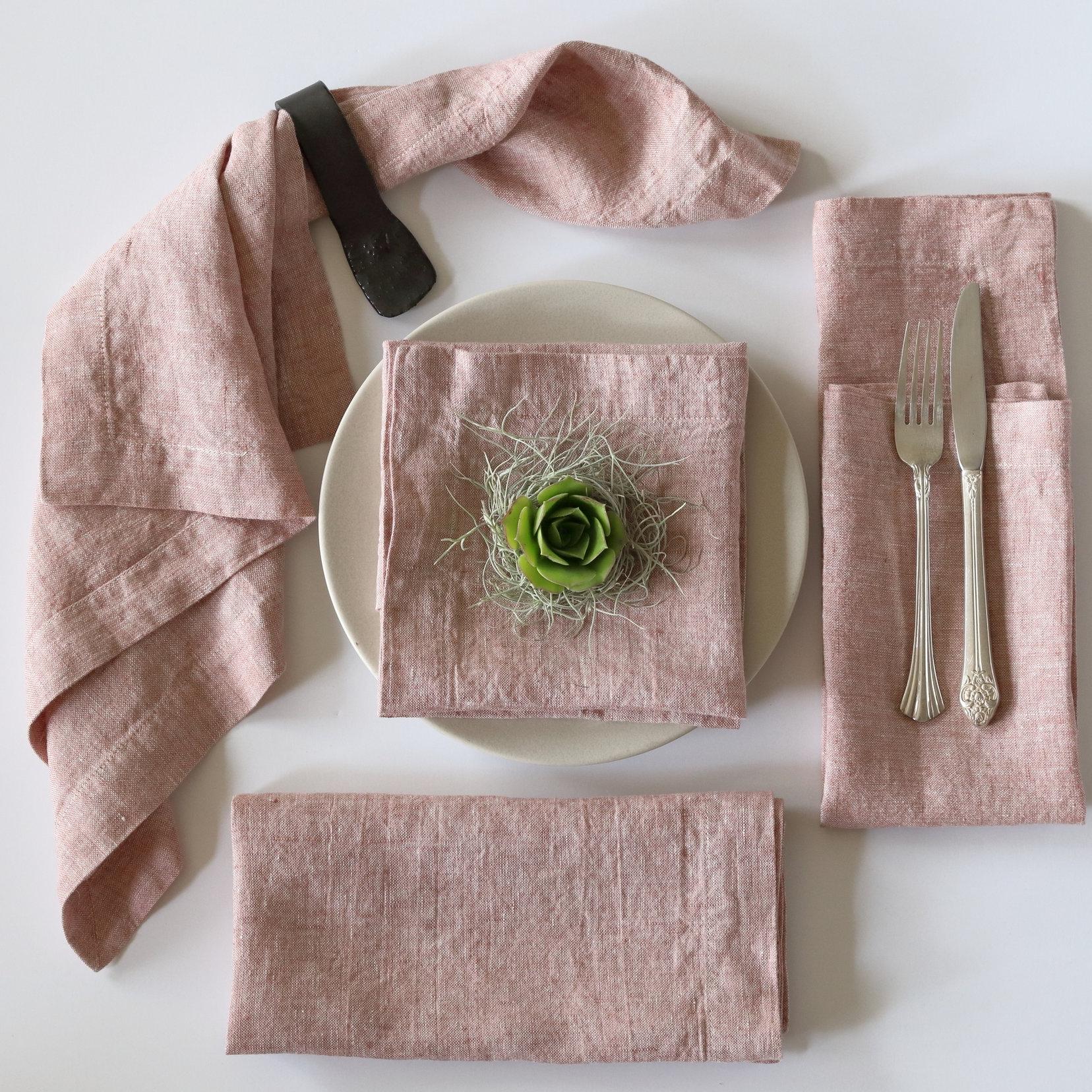 Pink Clay Linen Napkins