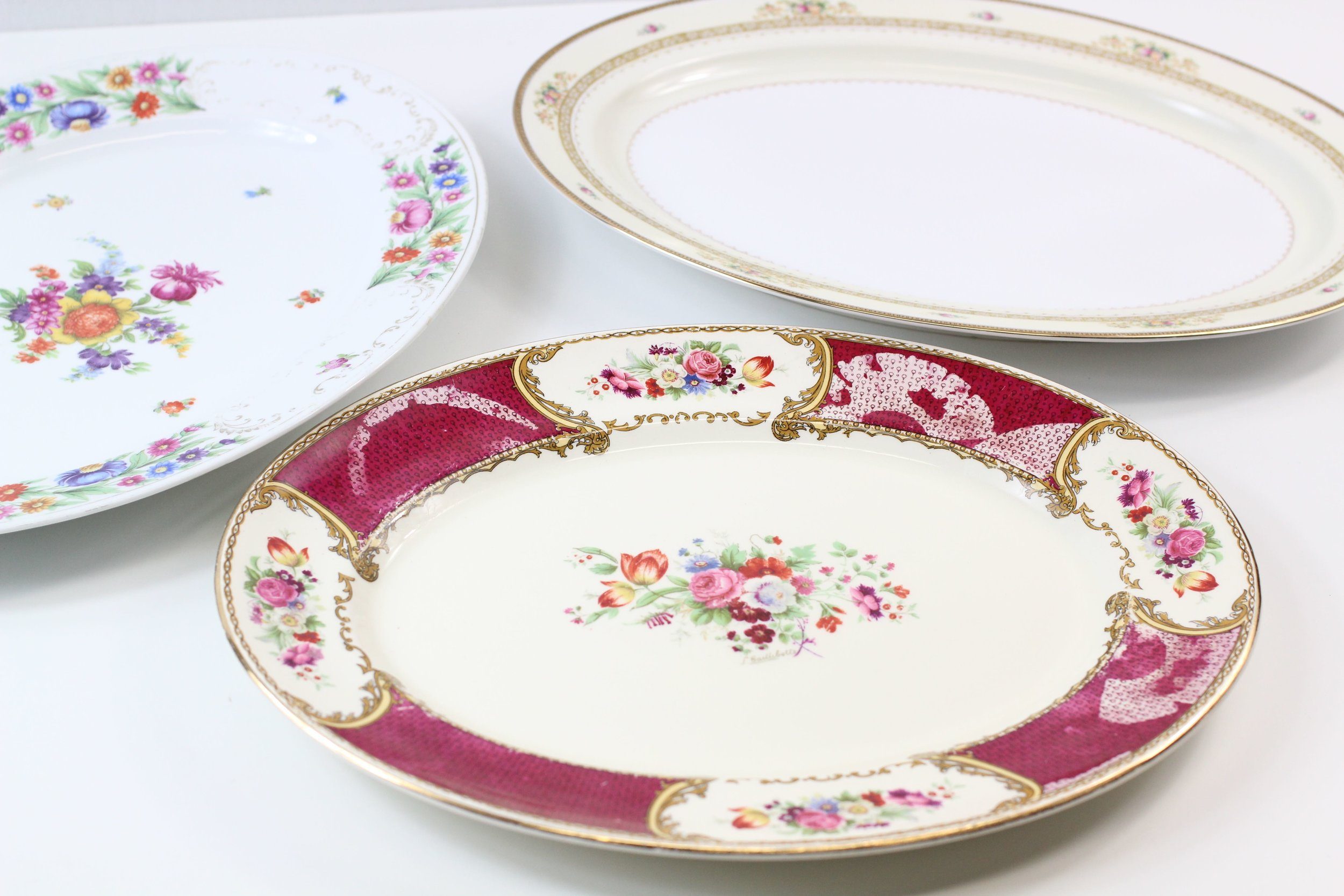 China Floral Serving Platters