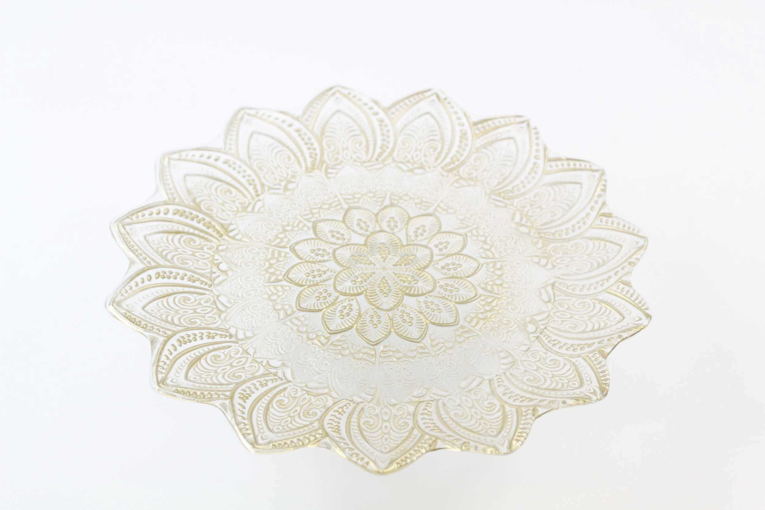 Gold Flower Cake Stand