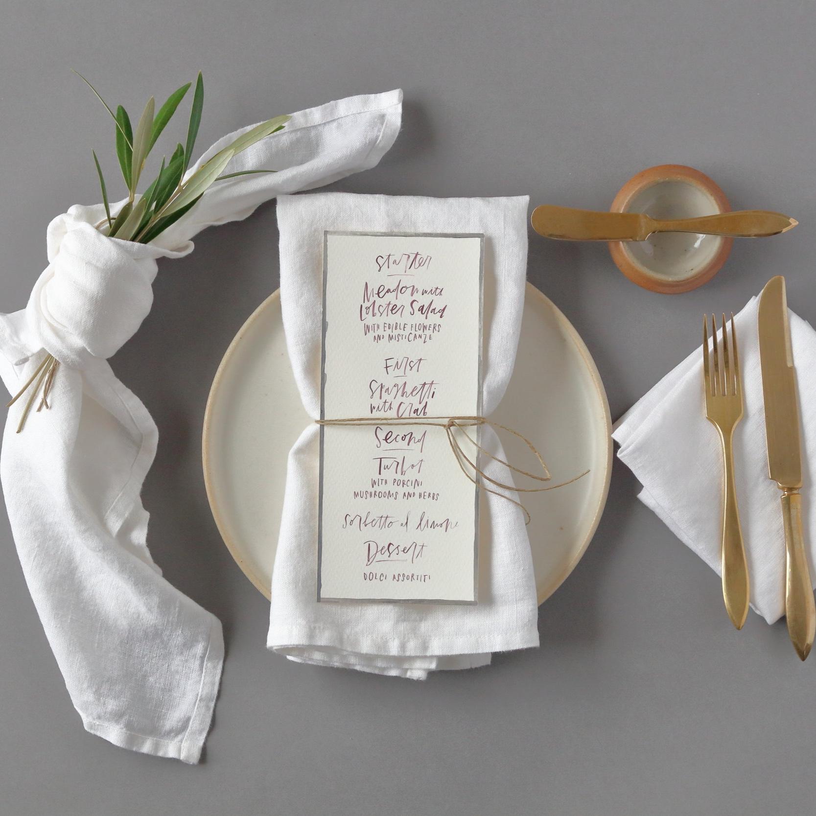 Oyster White Linen Napkins