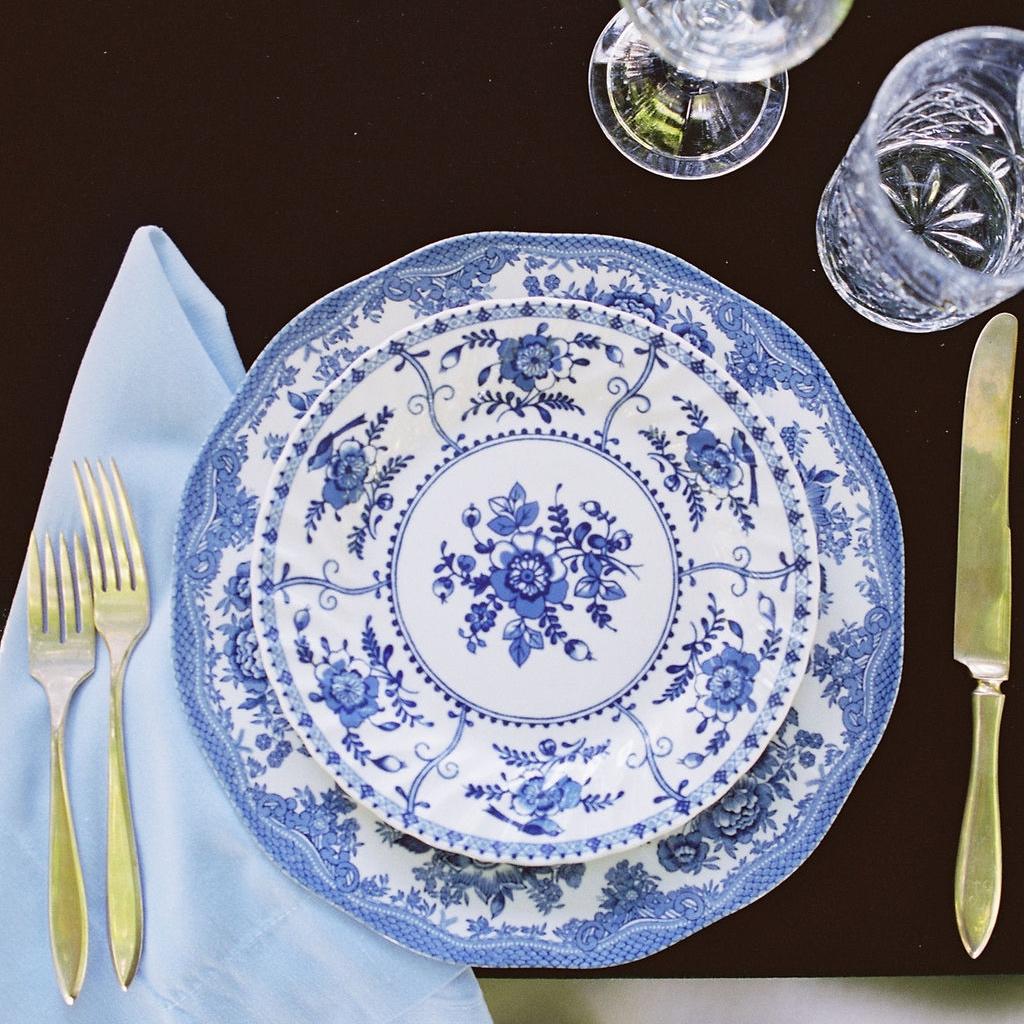 Blue + White Dinner Plate