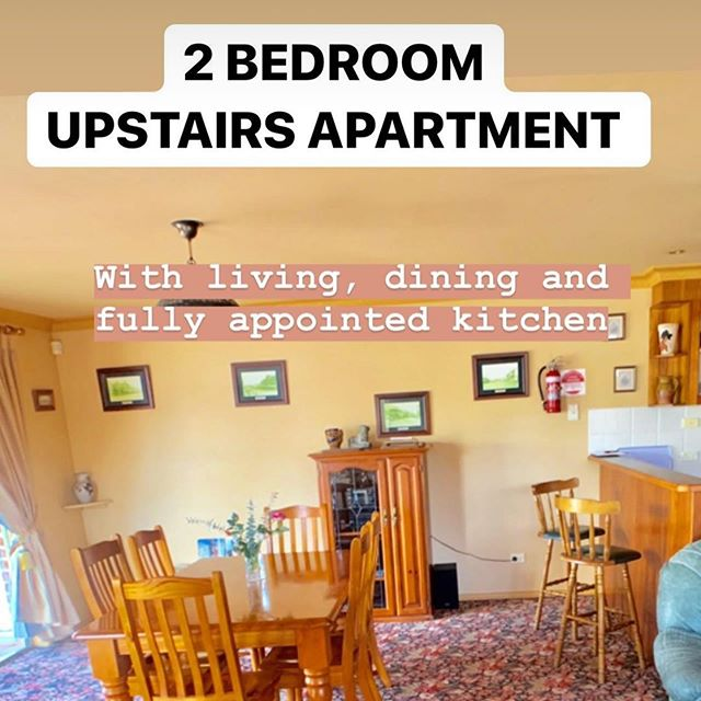 The Upstairs Apartment- 2 beds plus able to add more beds, large living, full sized kitchen & 2 enclosed balconies. Best Value Apartment accommodation in Orange! #visitorangensw #vistorange #unearthcentralnsw #selfcateredaccommodation #orange360 #hamerhouse