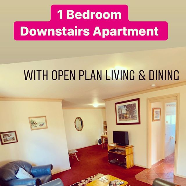 The Downstairs Apartment - choice of 1 or 2 beds, large outdoor enclosed entertainment area, backyard and pet friendly.  Best Value Apartment accommodation in Orange! #visitorange #orange360 #holidayingwithdogs #unearthcentralnsw #selfcateredaccomodation #hamerhouse #orange360_allyearround #orangeinwinter