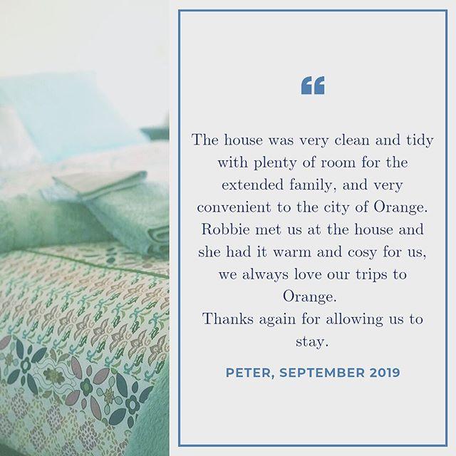 Thanks Peter! 😊🏠🌸🌺 . . . . . #visitorangensw #orange360 #unearthcentralnsw #holidayingwithdogs #stayorange #