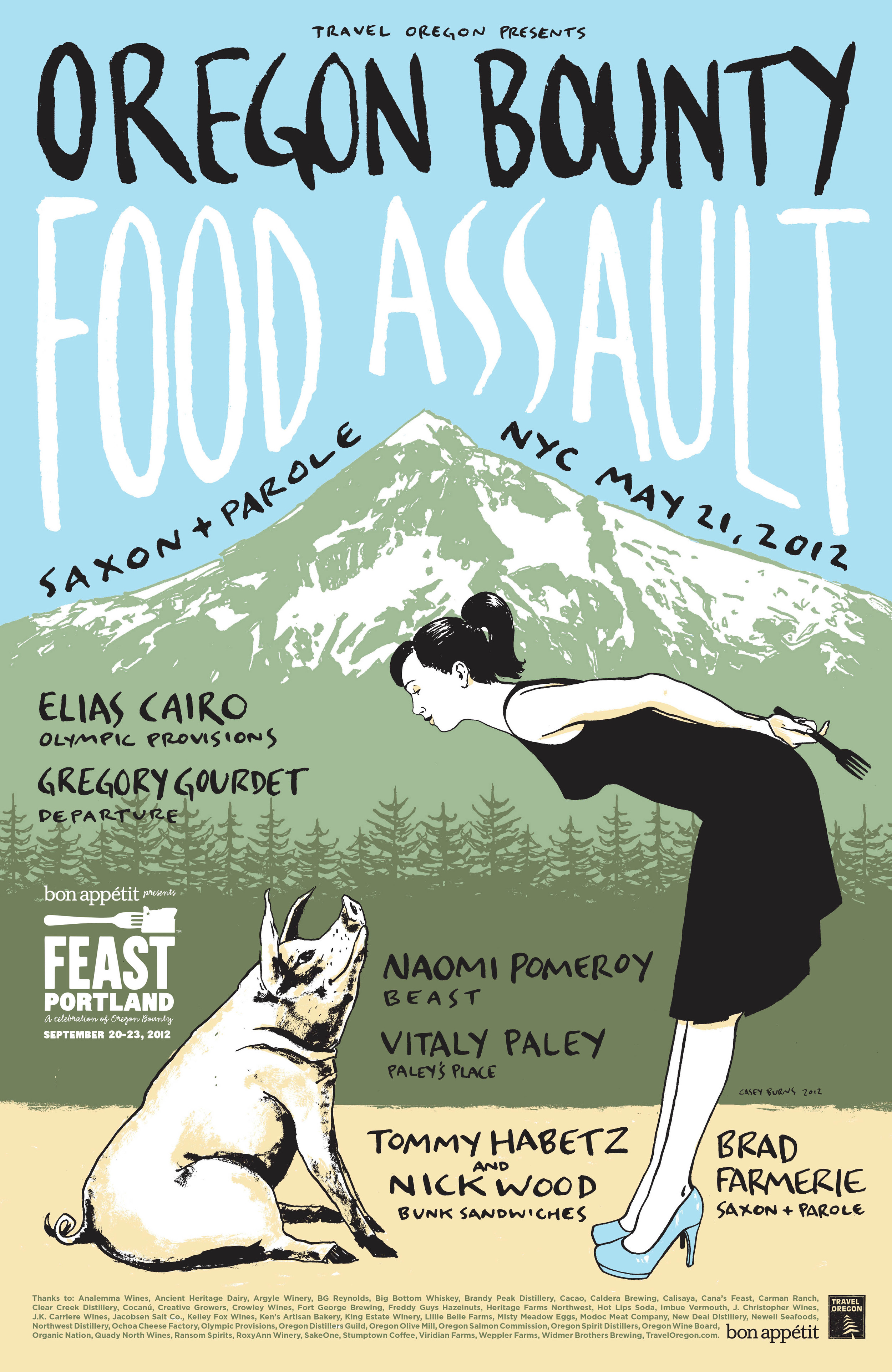 """Sometimes lesser known places have to act big. We created the """"Oregon Bounty Food Assault"""" event in NYC to share Oregon's tastiest with 125 top food-world influencers."""