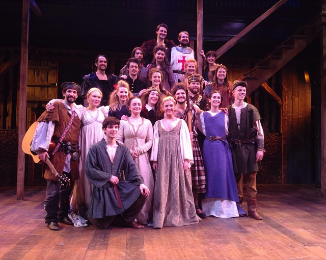 The Company starring in Robin Hood the Musical -a World Premiere