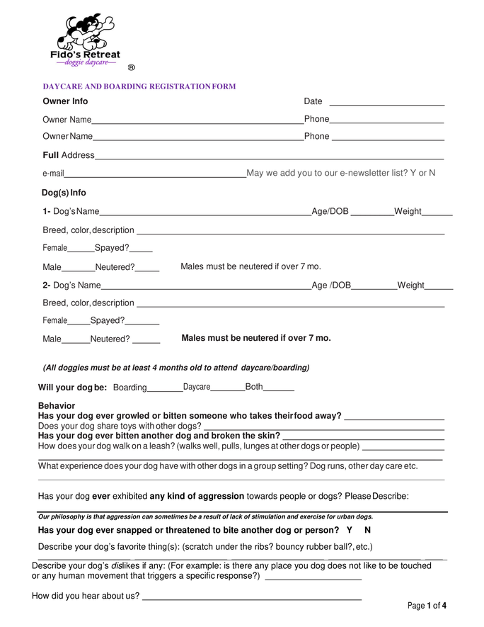 Click here to download our written registration form