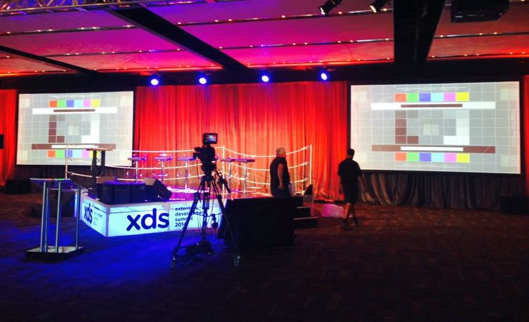 The XDS stage before the event started.