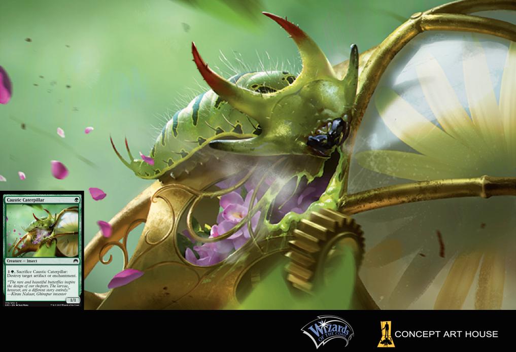 Caustic Caterpillar, Magic: the Gathering card game art