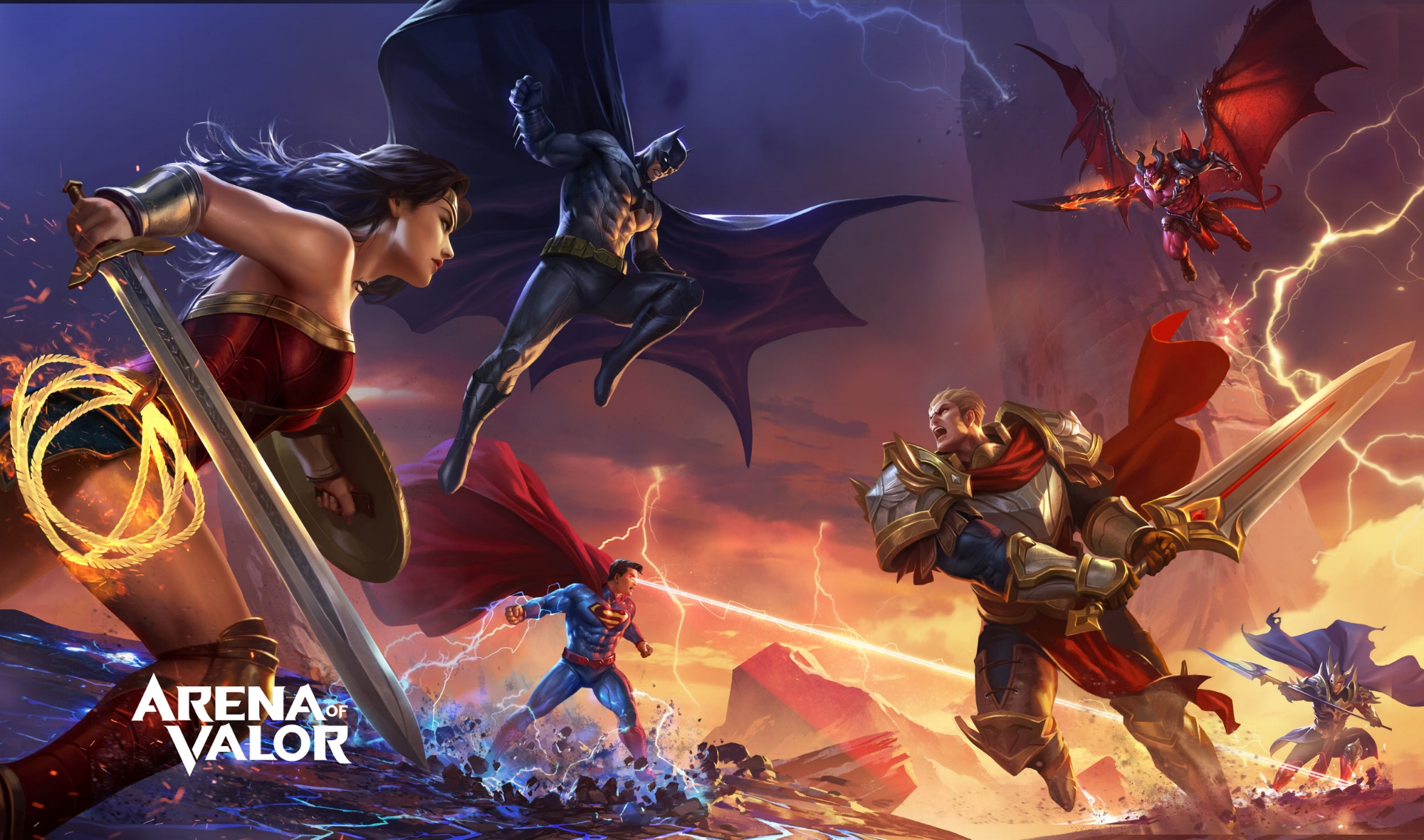 Splash screen CAH did for Tencent's Arena of Valor