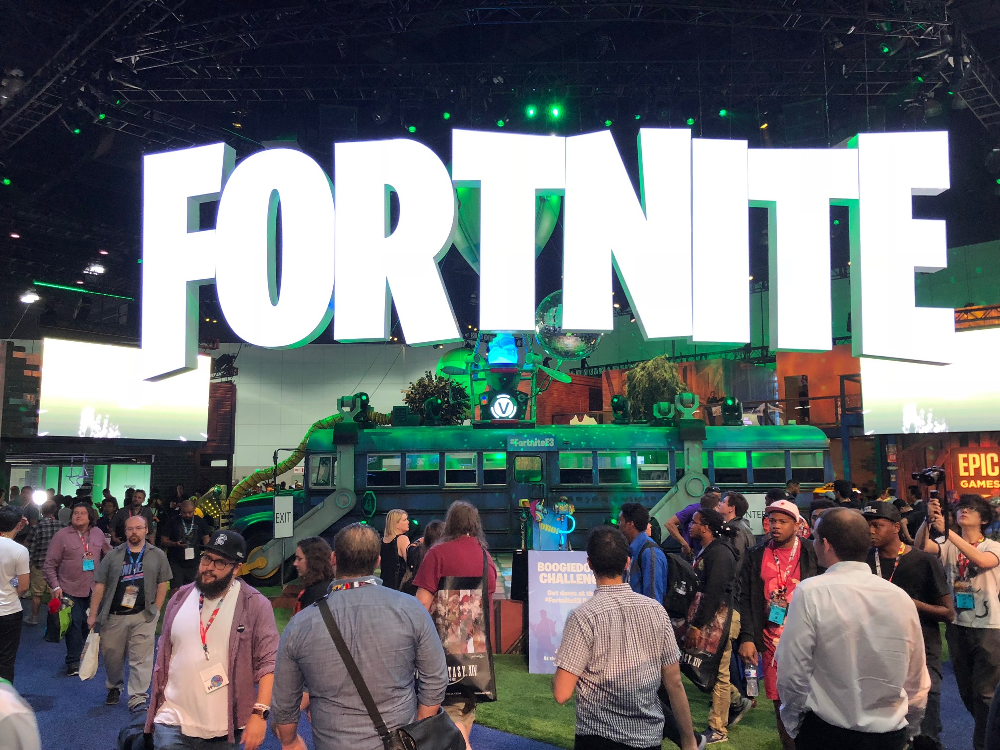 Fortnite booth at E3 2018