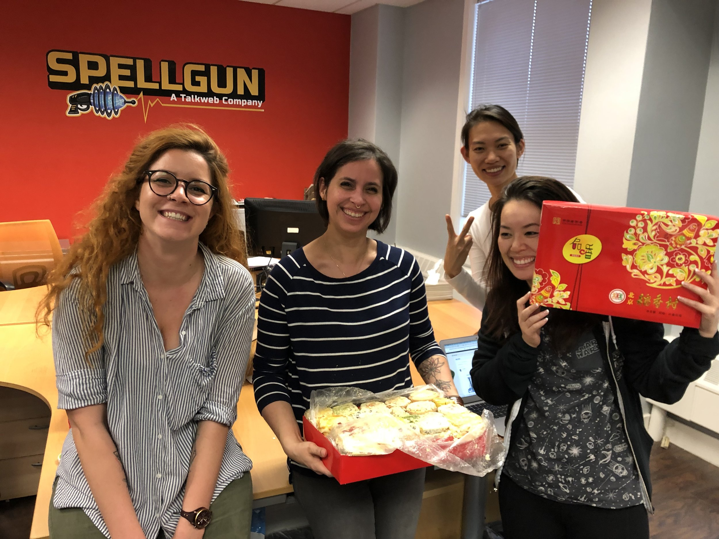 The ladies from the US office enjoying some New Year Dim Sum! (Thank you, Seasun!)