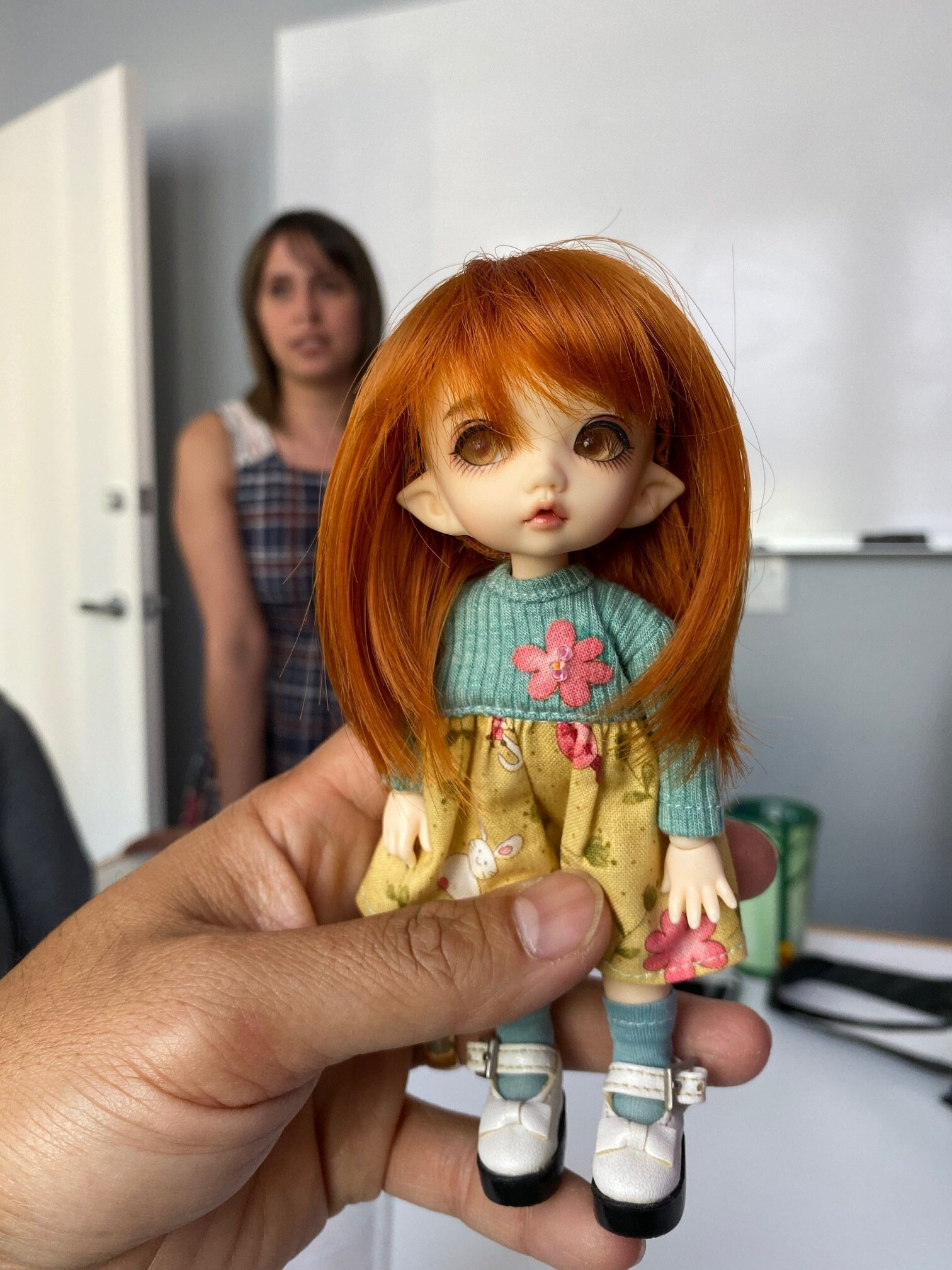 Debbie Colon, our Project Manager shows her passion of Handcrafting Dolls
