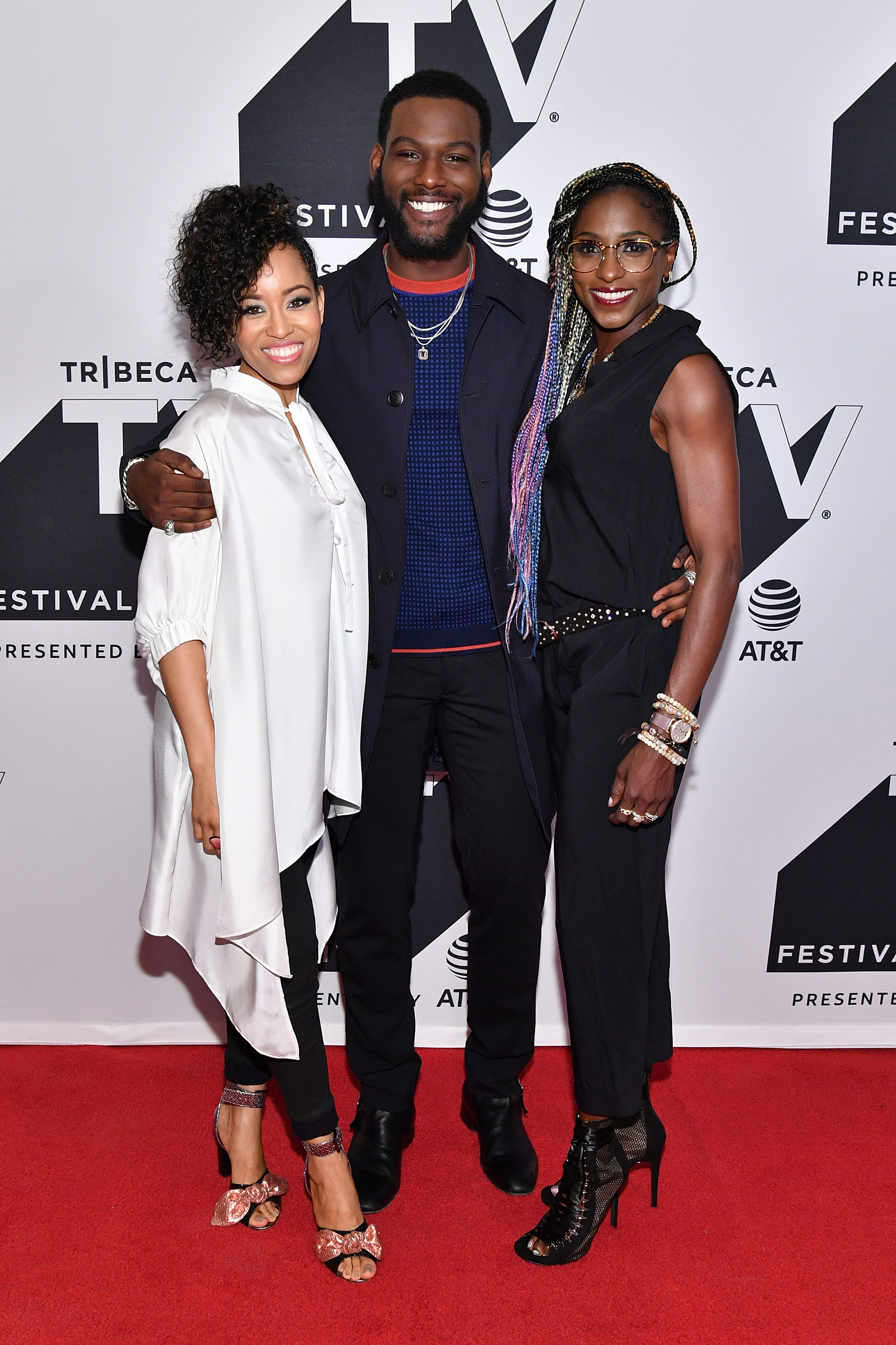 Dawn-Lyen Gardner, Kofi Siriboe and Rutina Wesley attend the Tribeca TV Festival mid-season premiere of Queen Sugar at Cinepolis Chelsea on September 24, 2017 in New York City. (Photo by Dia DipasupilGetty Images.jpg