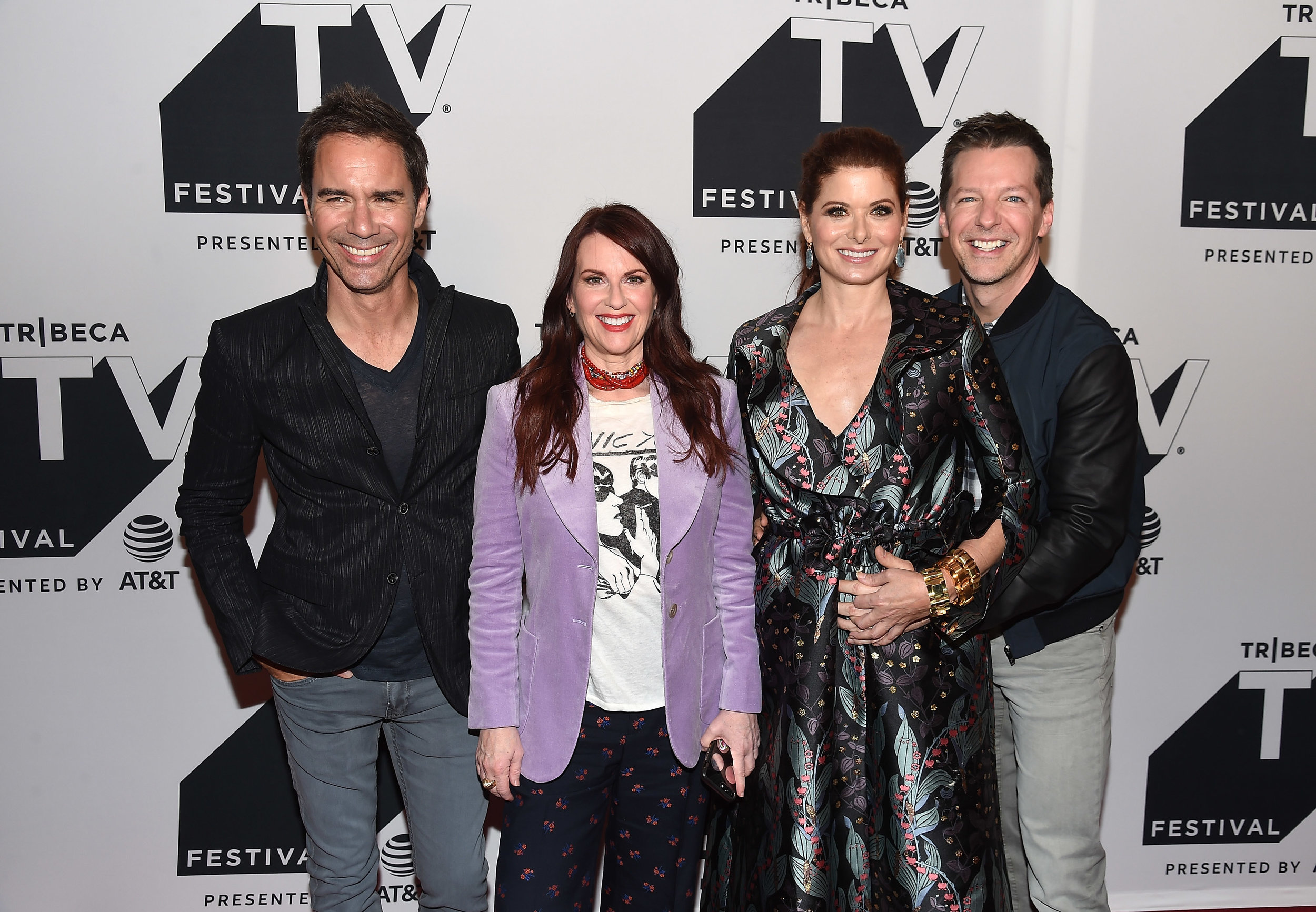 Eric McCormack, Megan Mullally, Debra Messing and Sean Hayes attend the Tribeca TV Festival exclusive celebration for Will & Grace at Cinepolis Chelsea on September 23, 2017 in New York City. (Photo by Nicholas H.jpg
