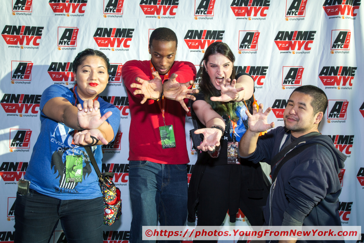 "The crew of  Otakus & Geeks  and  Royal Flush Mag  saying ""Hadoken! We're here!"""