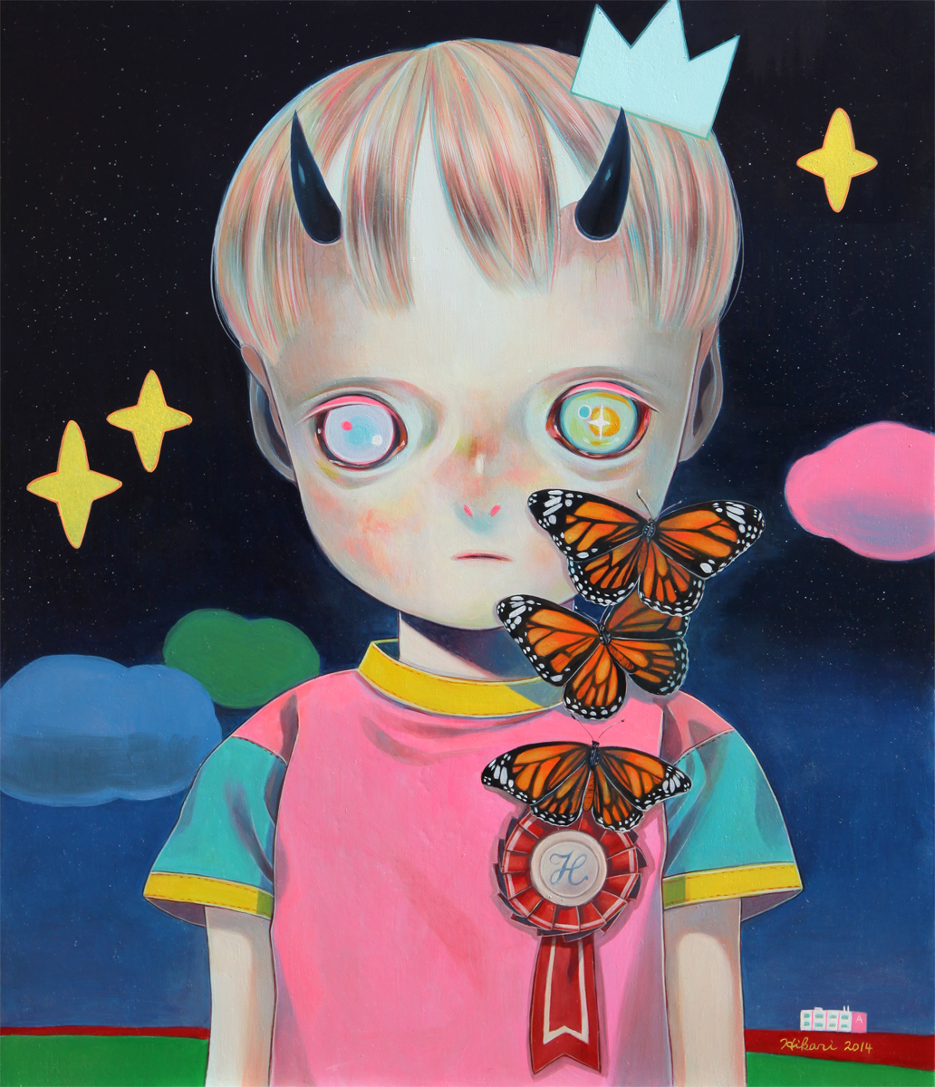 Hikari Shimoda 'Children of This Planet #24' (oil on canvas, 21 x 18 inches, 2014).jpg