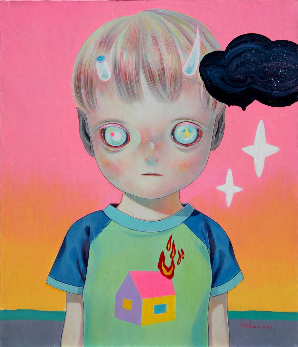 Hikari Shimoda 'Children of This Planet #25' (oil on canvas, 21 x 18 inches, 2014).jpg