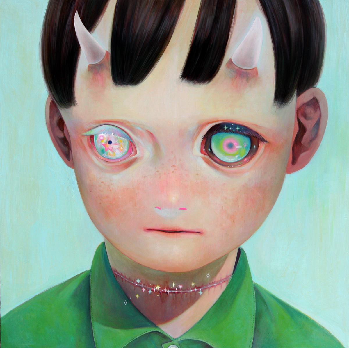 Hikari Shimoda 'Whereabouts of God #1' (oil on canvas, 29 x 29 inches, 2012).jpg