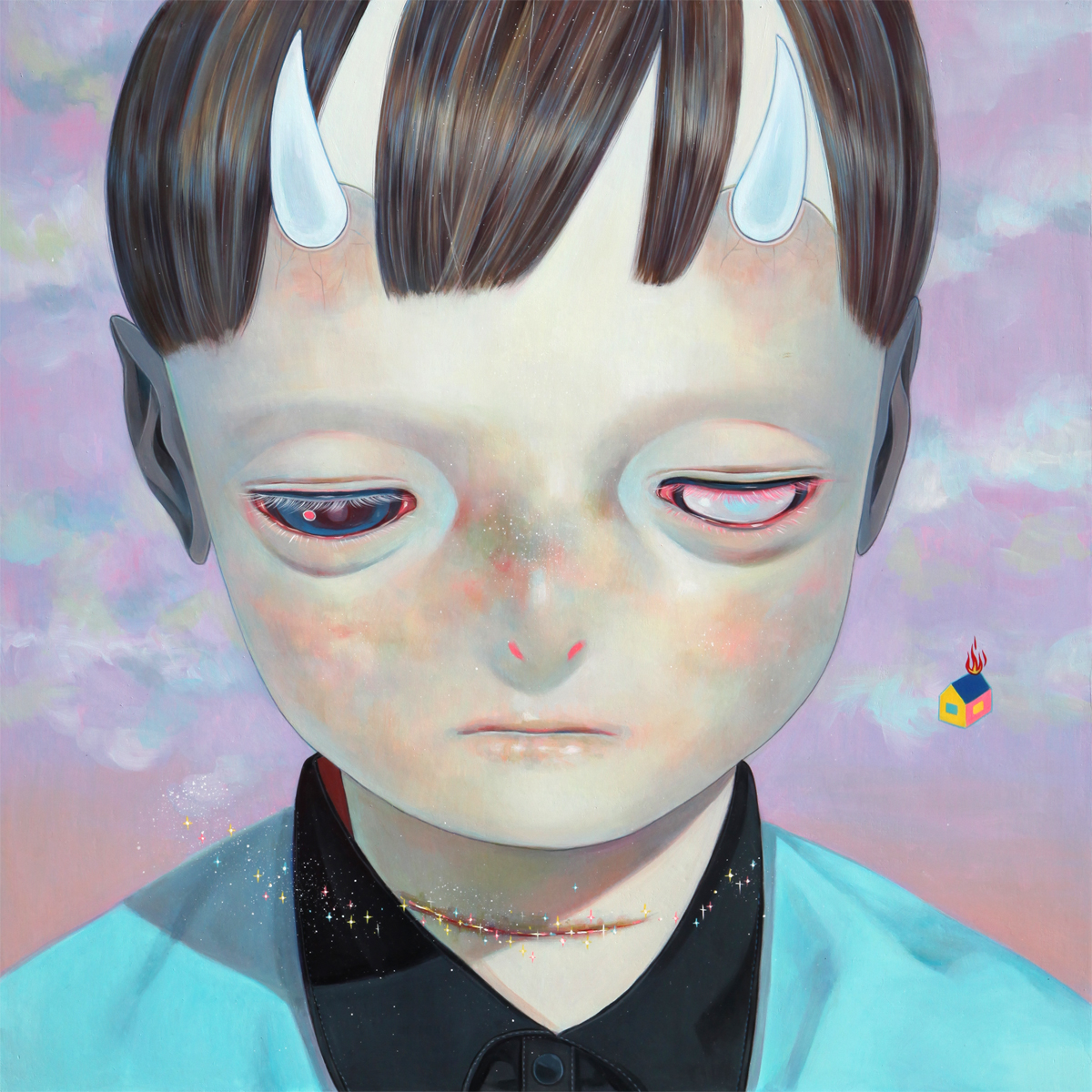Hikari Shimoda 'Whereabouts of God #16' (oil on canvas, 29 x 29 inches, 2014).jpg