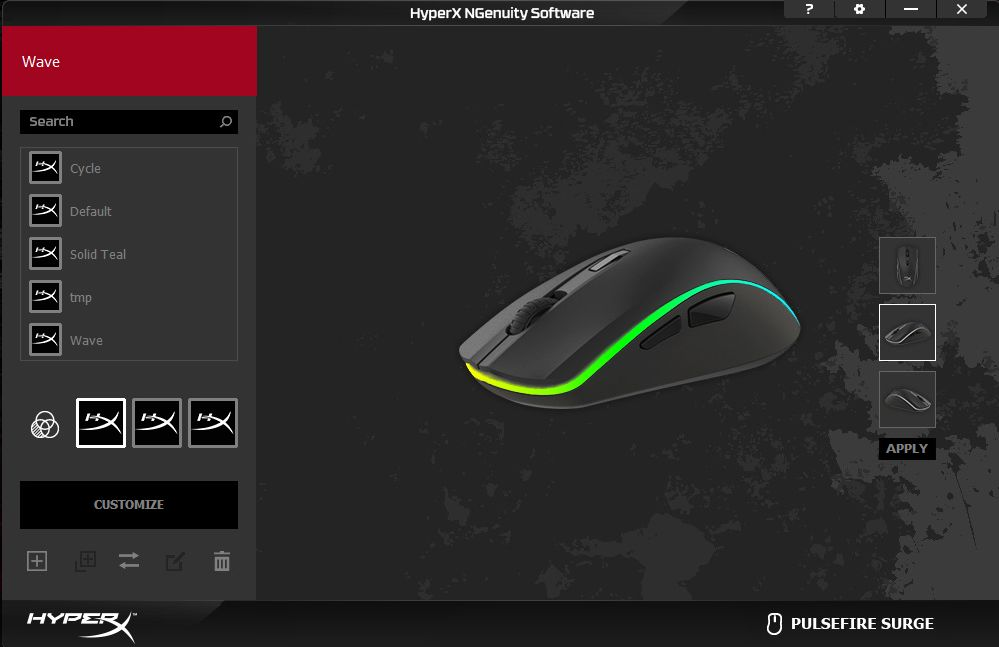 NGenuity  software to customize your  HyperX  gear