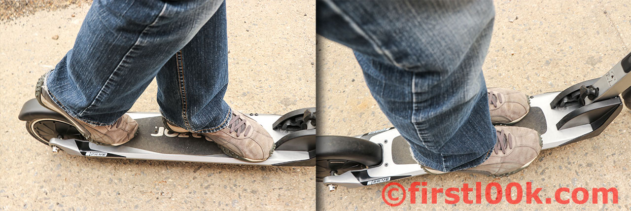 Easy to balance in board stance or feet side-by-side