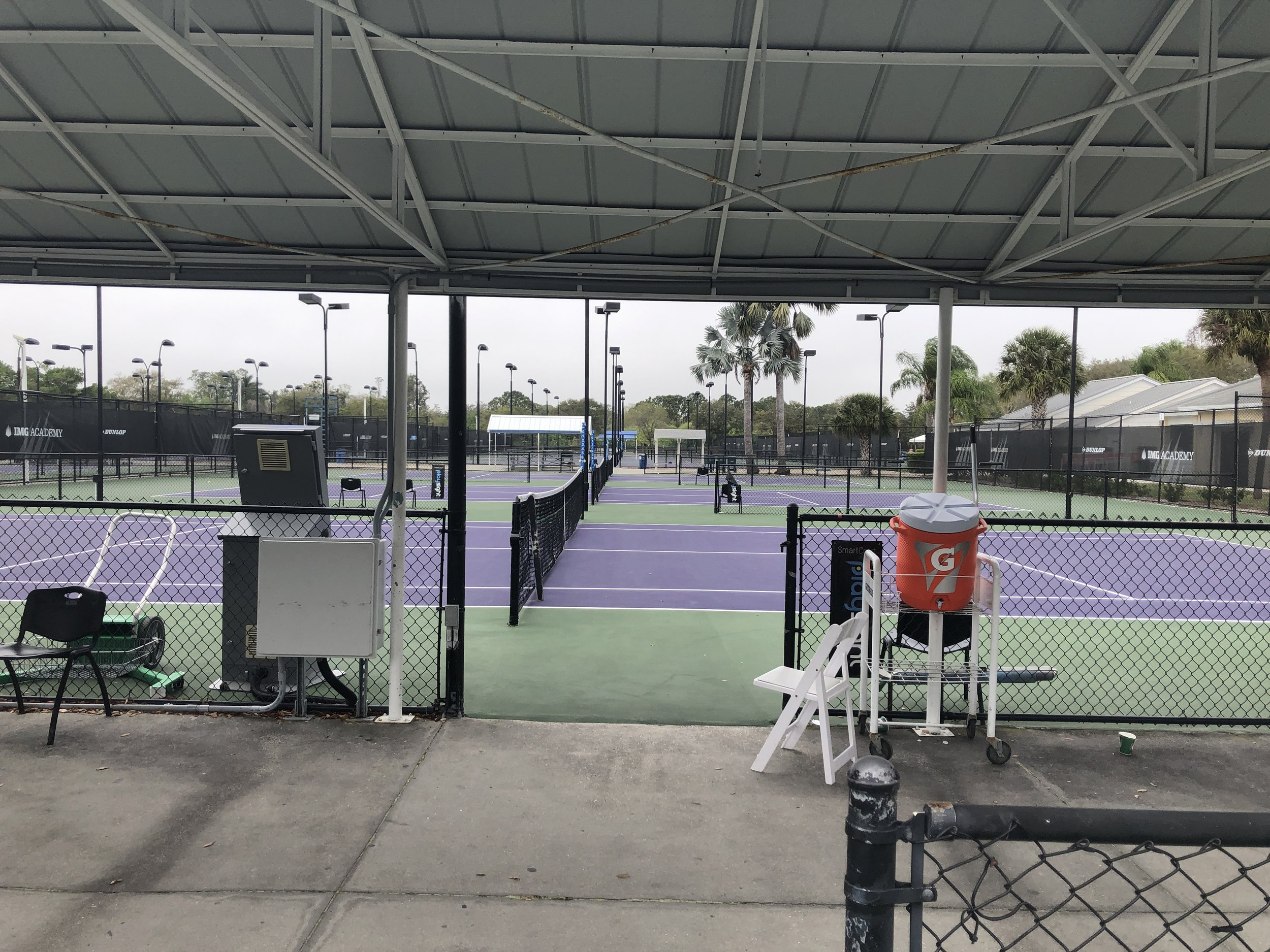 A recent look at the IMG courts on the weekend - while we practiced Sat & Sun, the courts stayed empty…