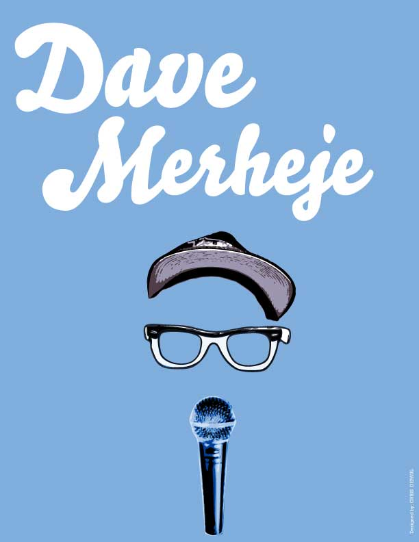 Web promo for Dave Merheje. Design by Chris DePaul