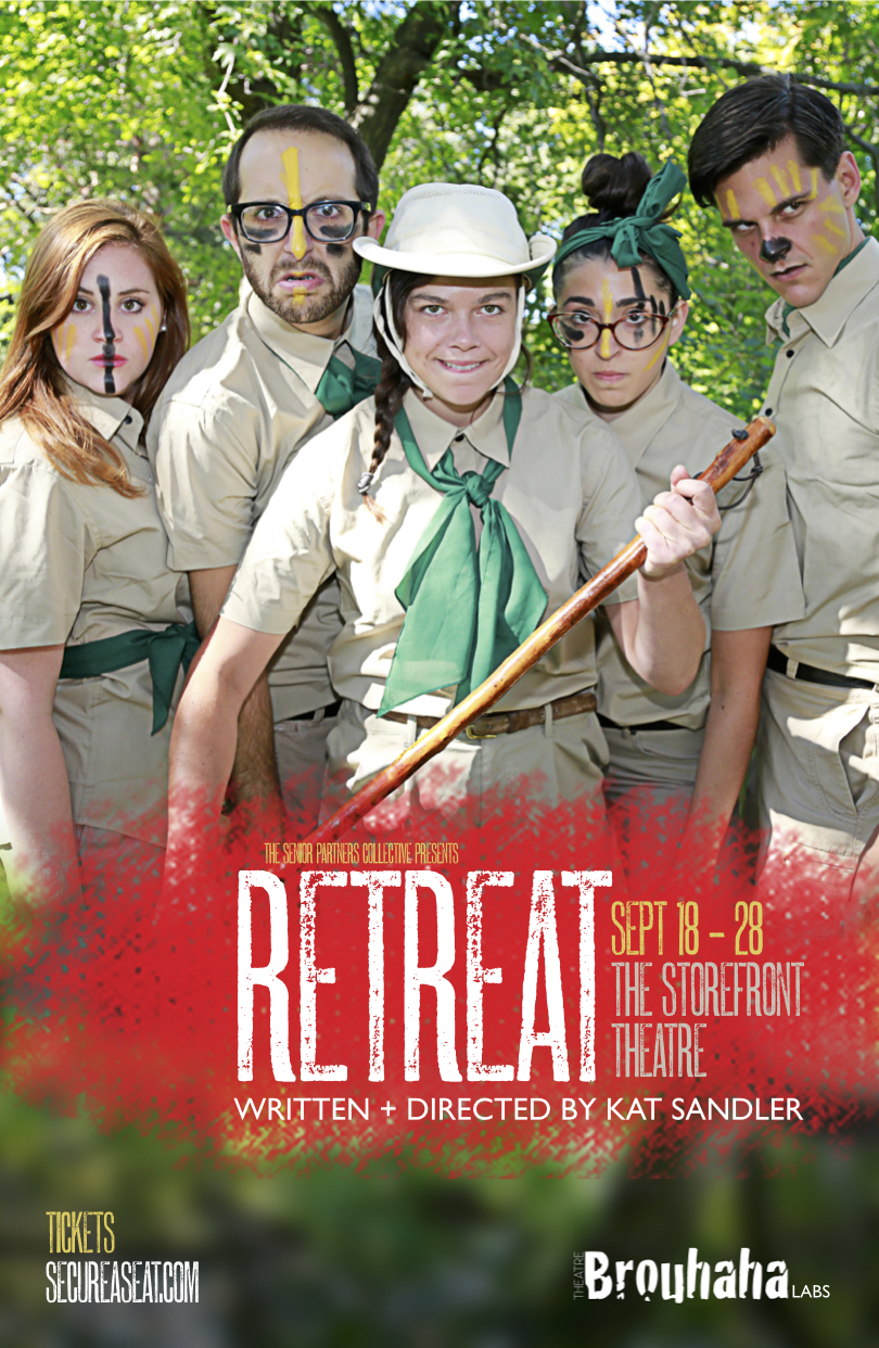 Poster for Retreat by Theatre Brouhaha's Kat Sandler. Photography by Zaiden.
