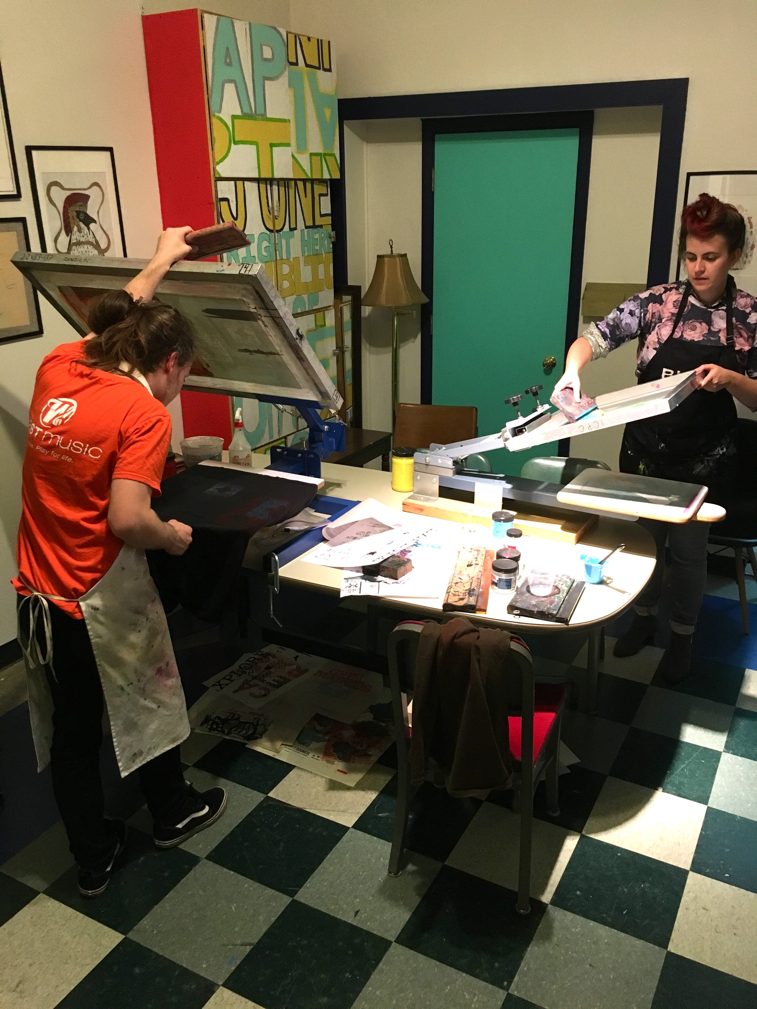 printing t-shirts for the iHearIC concert series